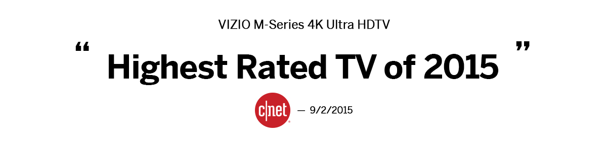 CNET VIZIO M-Series Highest Rated TV Review