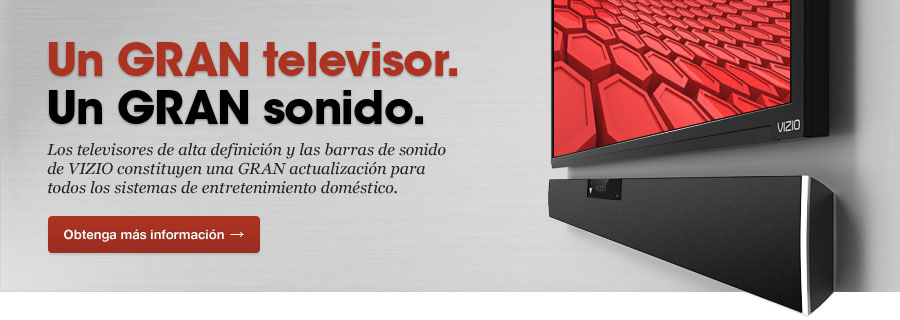 Un GRAN televisor. Un GRAN sonido.