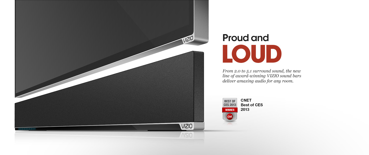 Vizio Sound Bars - Immersive high definition audio for your television.