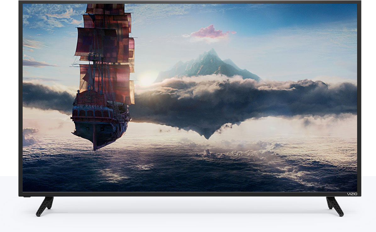 E-Series display and mobile device with VIZIO SmartCast App facing forward