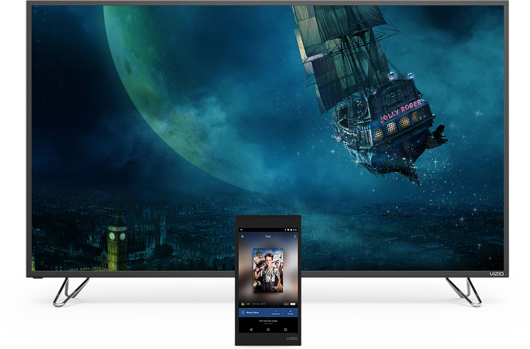 M-Series display and SmartCast Tablet Remote facing forward