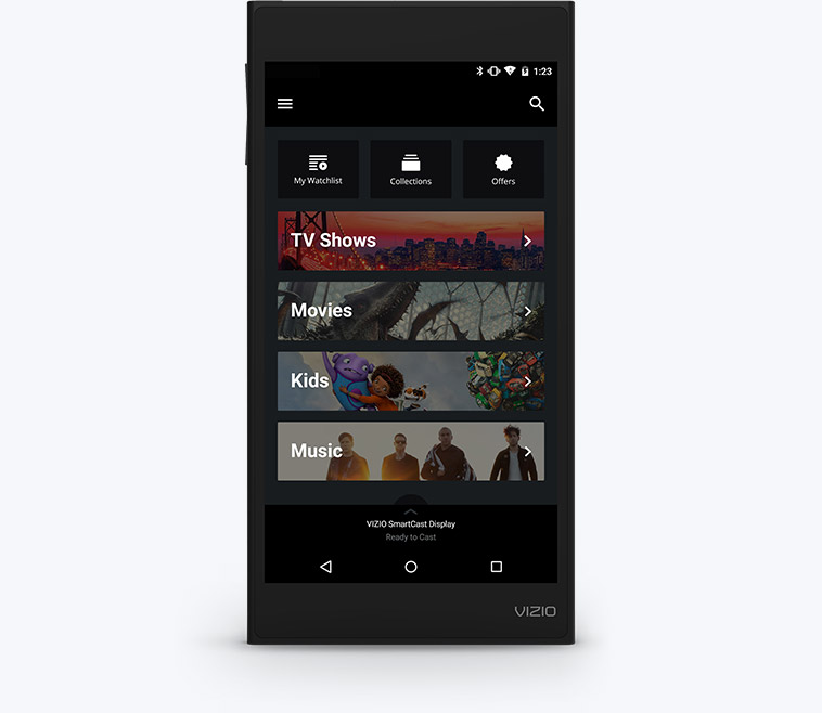 VIZIO SmartCast Tablet Remote facing forward