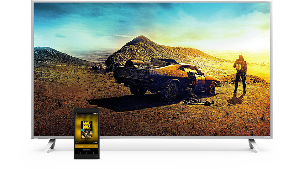 VIZIO P-Series 4K Ultra HD Home Theater Display with SmartCast Tablet Remote facing forward