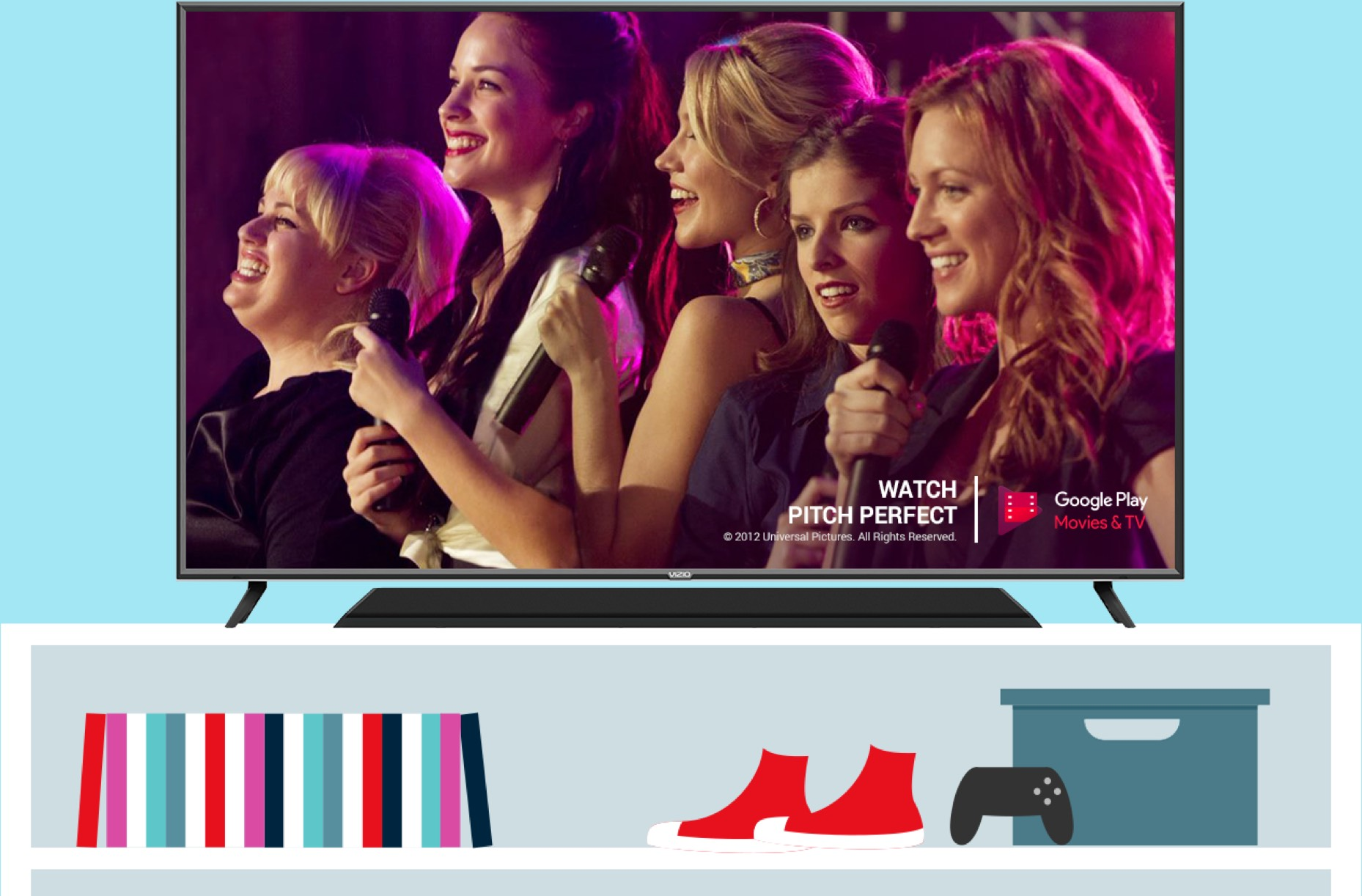 VIZIO TV featuring Pitch Perfect