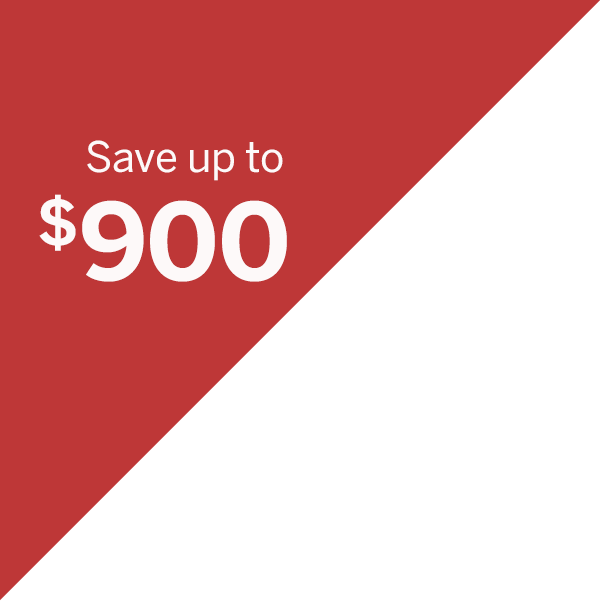 Up to $900 off