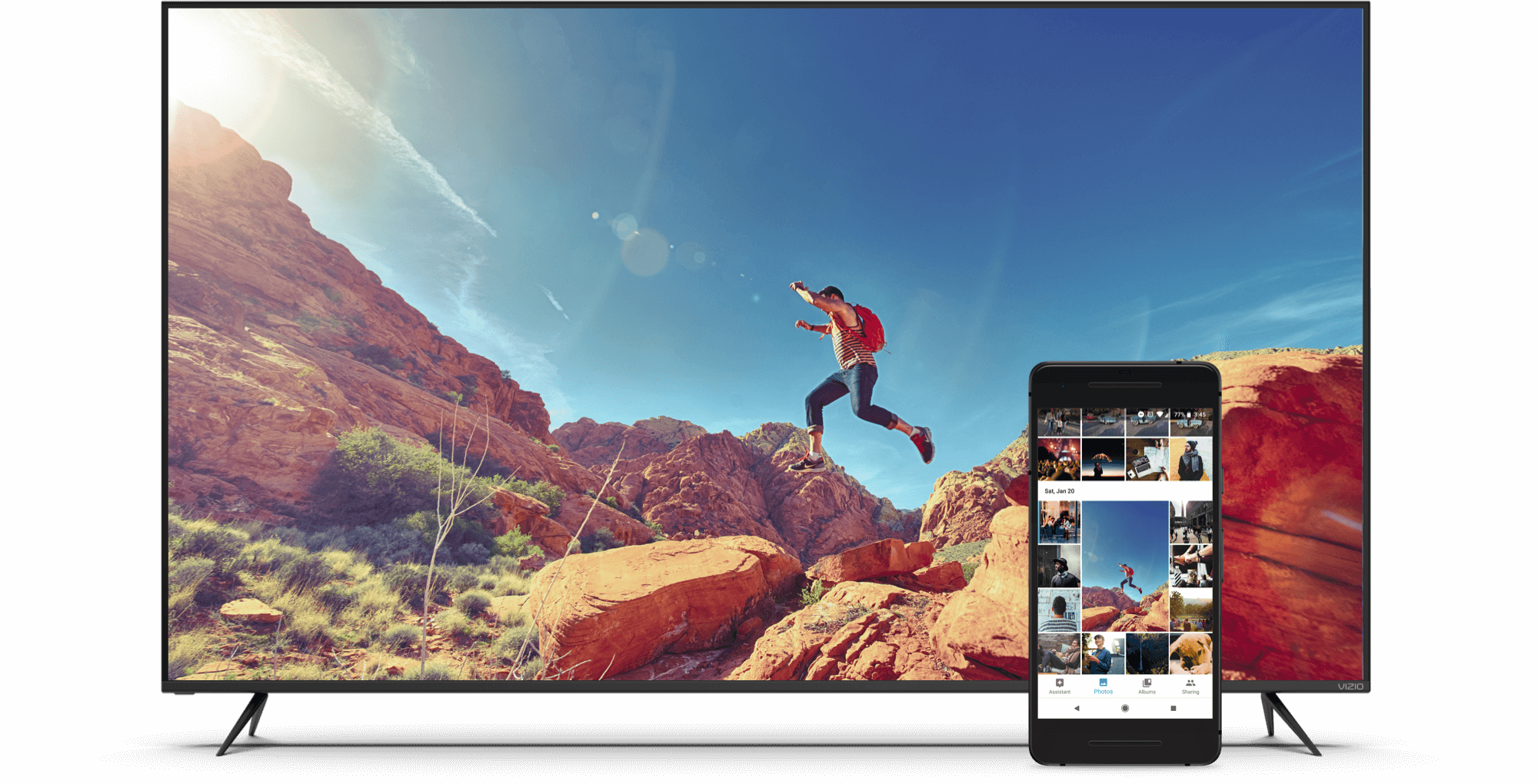 VIZIO TV Featuring Google Photos