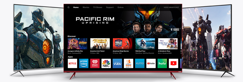 VIZIO TVs featuring SmartCast UI