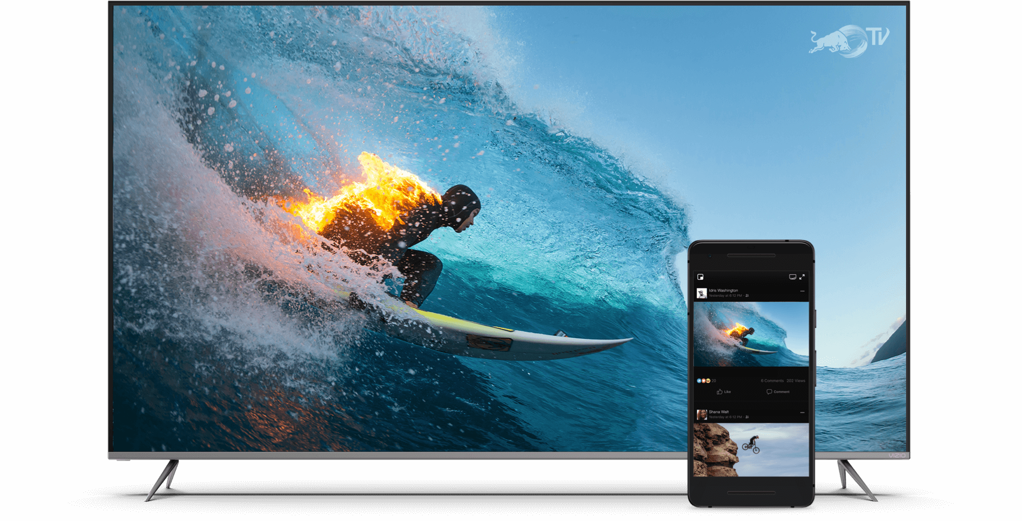 VIZIO TV Featuring Surfer