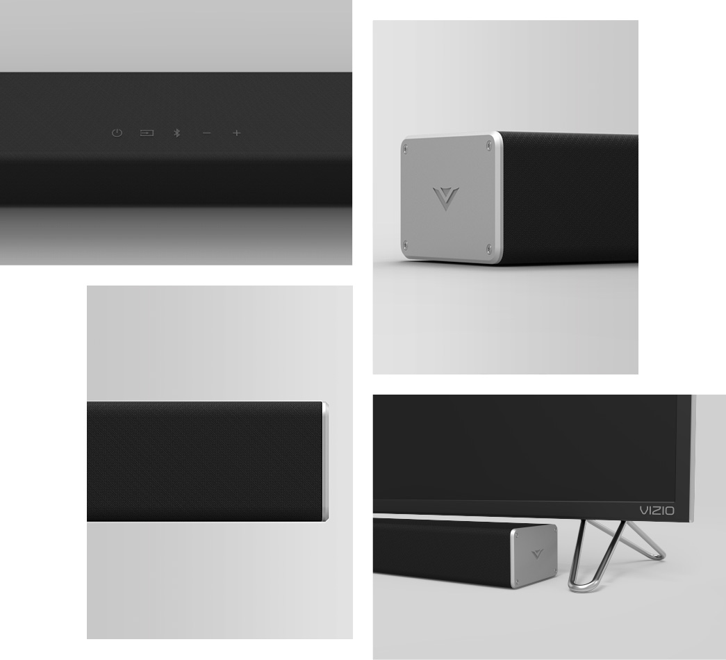 Thoughtfully crafted soundbar and subwoofer